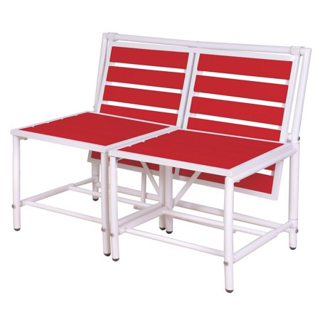 Esschert Design Convertible Bench Table Metal Slat Bench