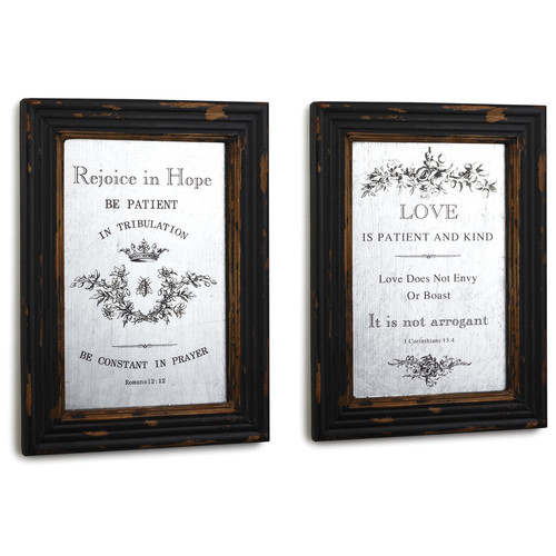 DEMDACO Silvestri Everyday 2 Piece Framed Textual Art Set