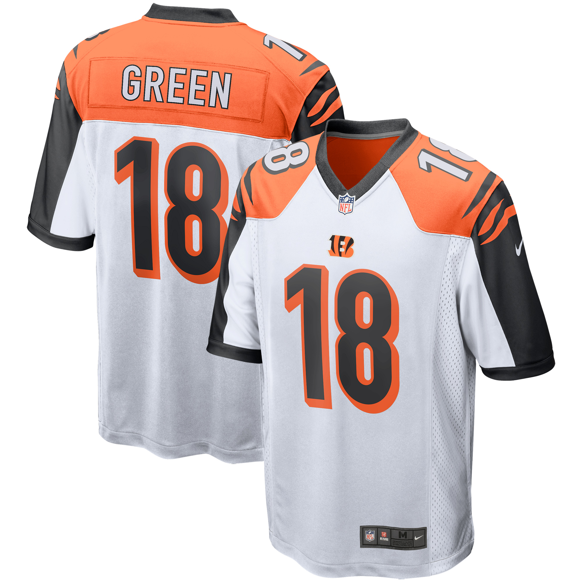 A.J. Green Cincinnati Bengals Nike Game Jersey - White - Walmart.com ba6b4df816c3