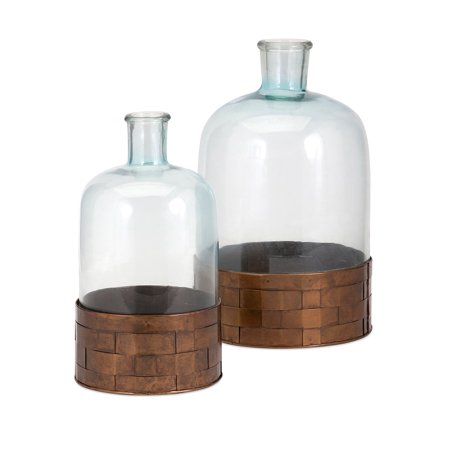 Trisha Yearwood Cowboy Glass and Metal Jugs - Set of 2 (Large Glass Jug)
