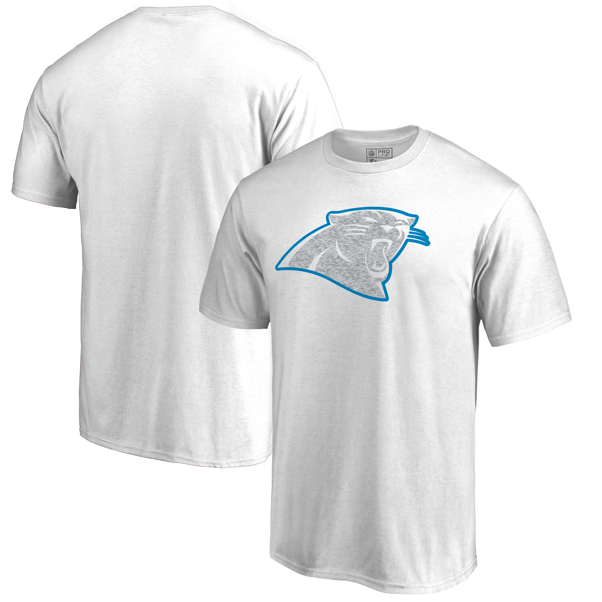 Men's NFL Pro Line by Fanatics Branded White Carolina Panthers White Out T-Shirt