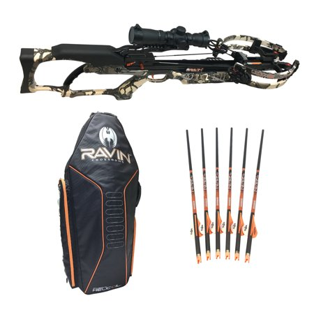 Ravin Crossbows 430 FPS R20 Crossbow Package with Arrows (6-Pack) and Soft  Case