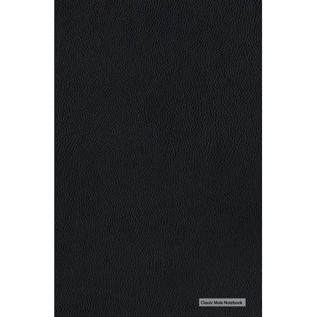 Blank Notebooks (Classic Mole Notebook - Faux Black Leather: 5.25