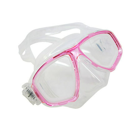 Scuba Pink Dive Mask NEARSIGHTED Prescription RX Optical Lenses (-7.0)