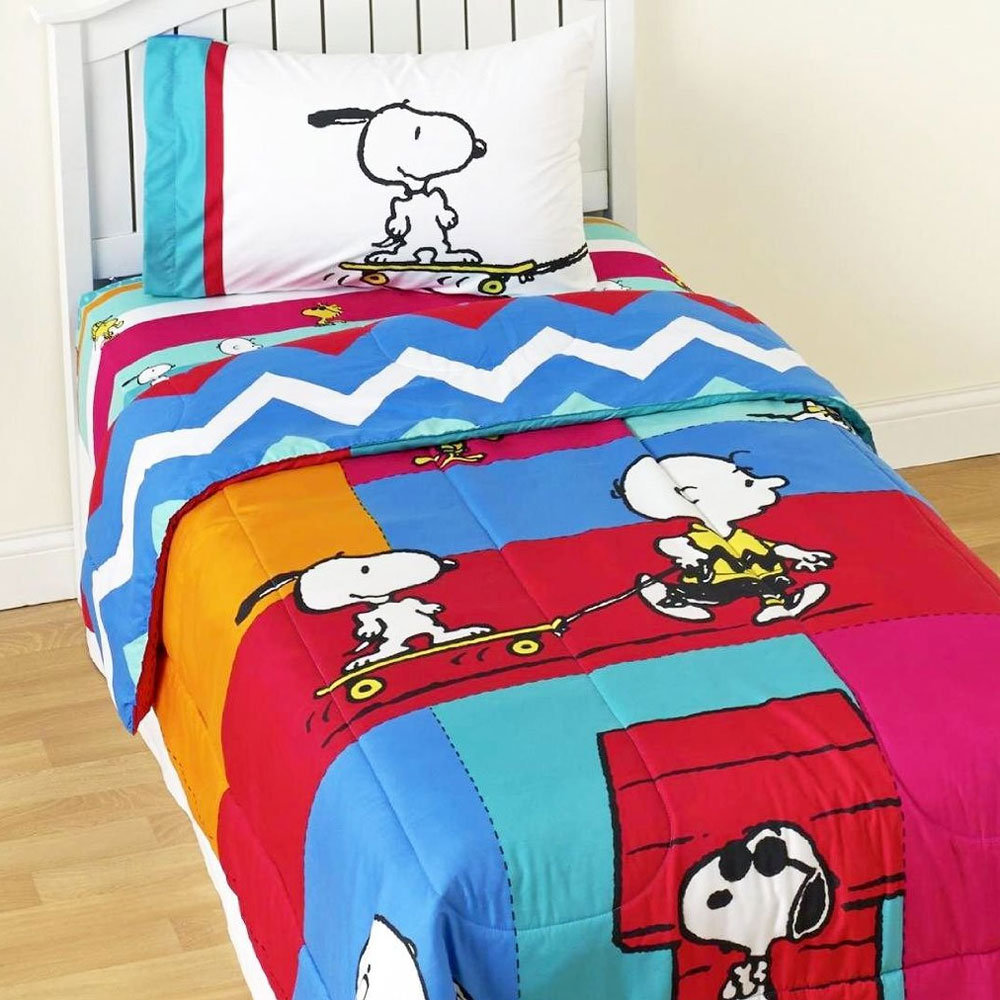 Snoopy Comforter Set Peanuts Bedding Bedding Sets