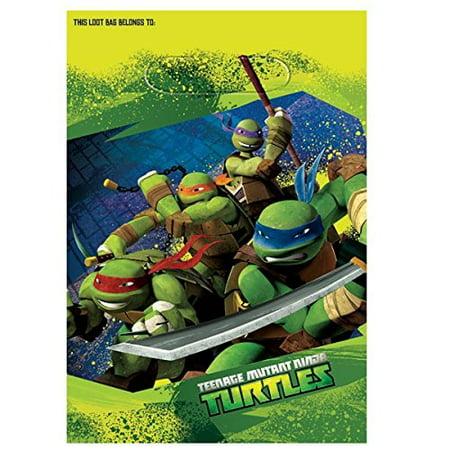 Teenage Mutant Ninja Turtles Party Treat Bags, 9.25 x 6.5 in, 8ct - Ninja Turtles Party Bags