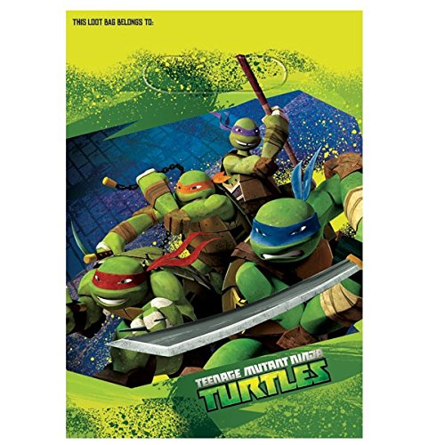 Teenage Mutant Ninja Turtles Party Treat Bags, 9.25 x 6.5 in, 8ct