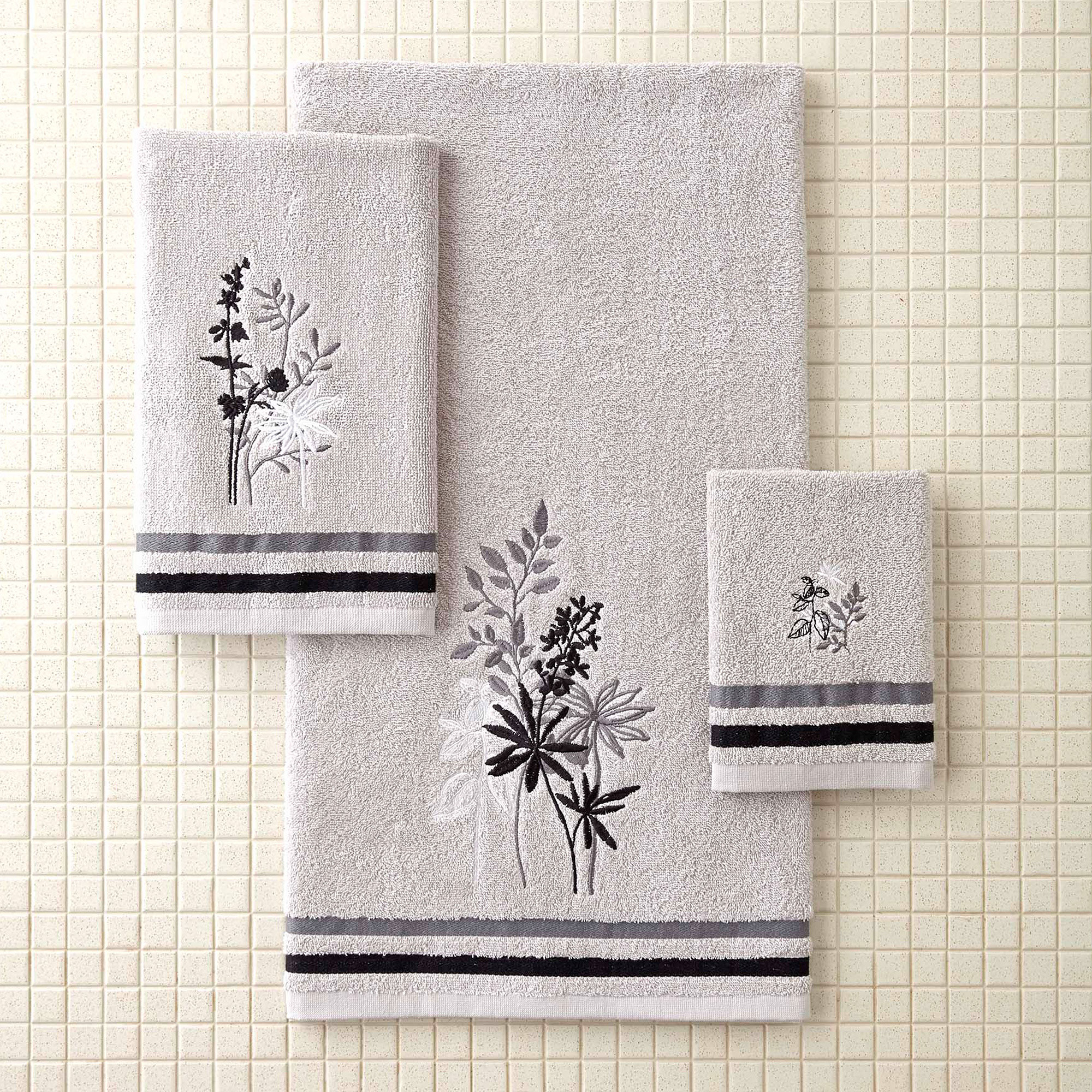 better homes and gardens tranquil leaves decorative bath towel collection