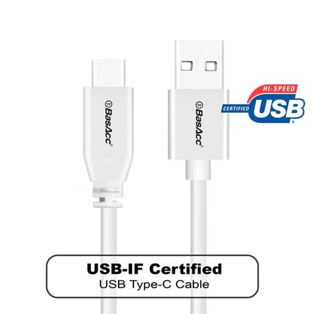 BasAcc USB to USB C Cable Male to Male 3' Type C Data Sync Charger Cable Charging Cord For iPad pro 12.9
