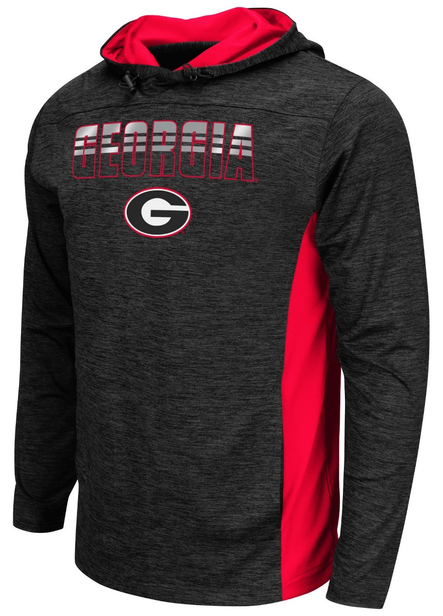 "Georgia Bulldogs NCAA ""Sleet"" Pullover Men's Hooded Jacket by Colosseum"