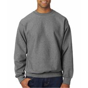 Weatherproof 7788 Adult Cross Weave Crew Neck Sweatshirt - Graphite, Large