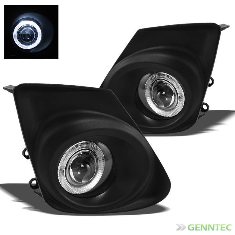2011-2013 Toyota Corolla Halo Projector Bumper Fog Lights + Switches Combo Pair 2012 Pair Left+Right