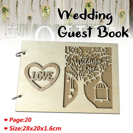 DIY Personalized Wedding Guest Book Vintage Wedding Signing Book 28x20x1.6 cm