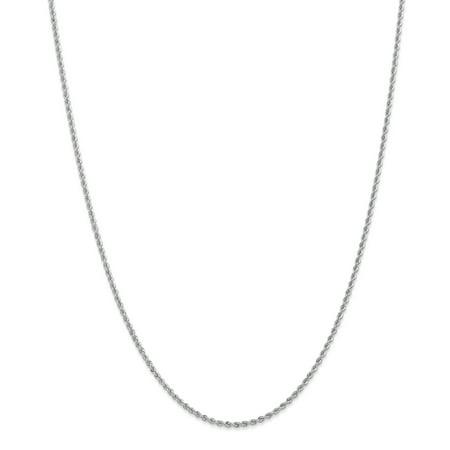 14K White Gold 2.0mm Handmade Regular Rope Chain 22 Inch - image 1 de 5