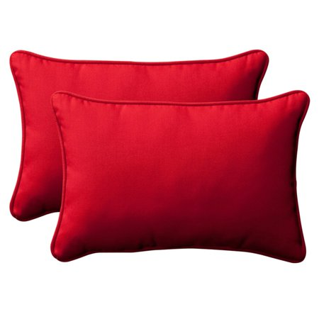 Pillow Perfect Rectangle Outdoor Toss Pillow - 16.5L x 24.5W x 5H...