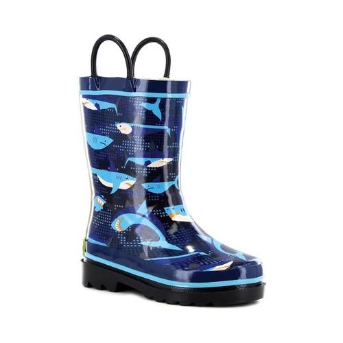 Western Chief Boys' Pixel Shark Camo Rain Boot