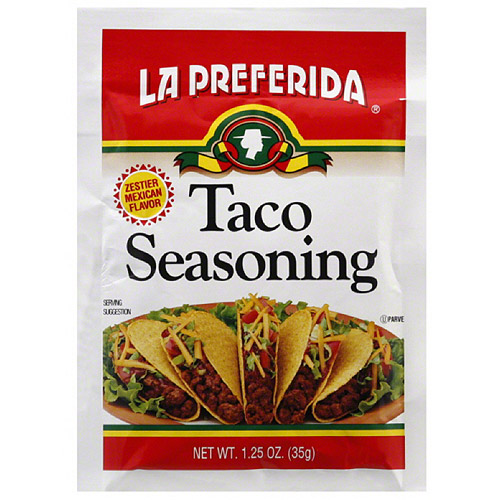 La Preferida Taco Seasoning Mix, 1.25 oz, (Pack of 24)