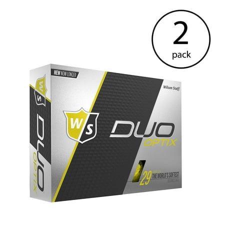 Wilson Duo Soft Optix Golf Balls, Yellow, 24 Pack
