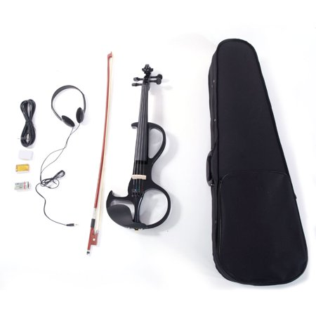 Zimtown 4/4 Electric Violin with Case, Rosin, Bow, Earphone, Musical Instrument ()