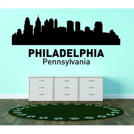 Do it yourself wall decal sticker philadelphia pennsylvania united do it yourself wall decal sticker philadelphia pennsylvania united states major city geographical map landmark 18x42 solutioingenieria Gallery