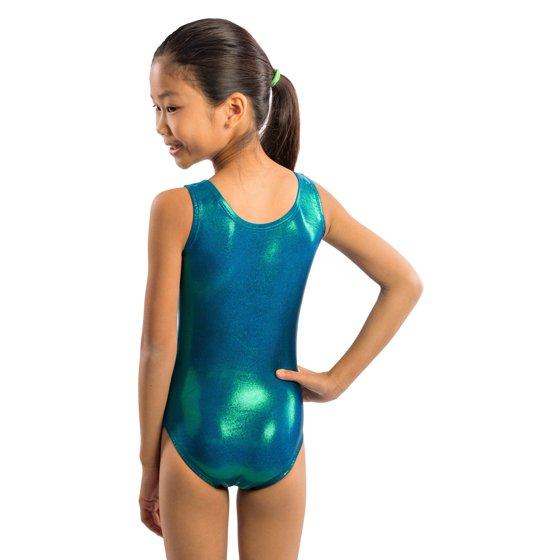 cdb6224e7 Lizatards - Girls Gymnastics Leotard in Green Blue Jewel Fabric with ...