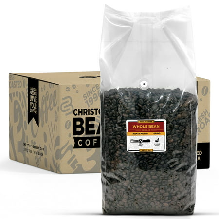 Christopher Bean Coffee KENYA KILIMANJARO BLEND MEDIUM ROAST WHOLE BEAN 5 LB BULK BAG