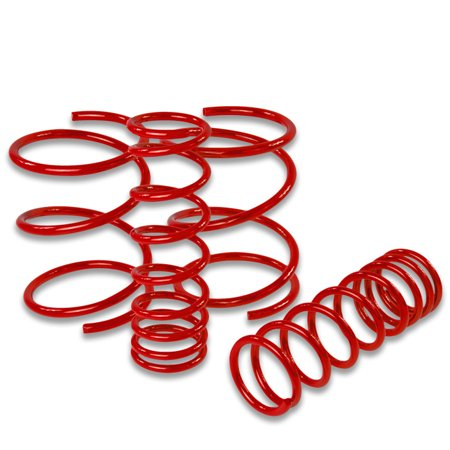 For 1995 to 1998 Nissan 240SX Suspension Lowering Springs (Red) - Silvia S14 96 97 Nissan 240sx Lowering Springs