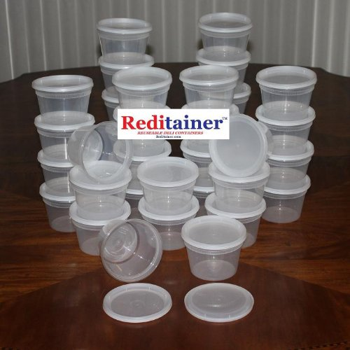 Reditainer Deli Food Storage Containers With Lid 16 Ounce 36 Pack