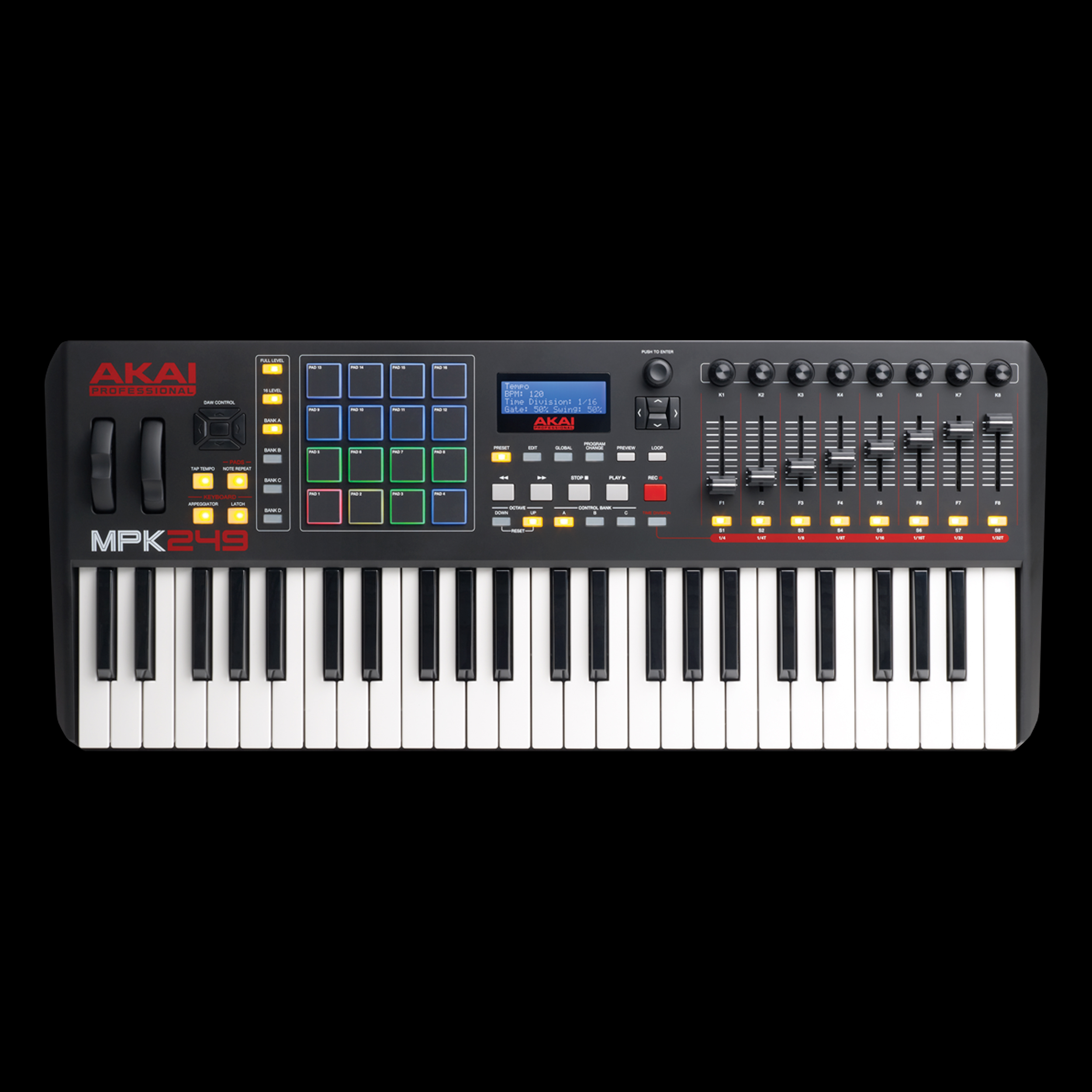 Akai Professional MPK249 | 49-Key USB MIDI Keyboard & Drum Pad Controller with LCD Screen by inMusic Brands, Inc