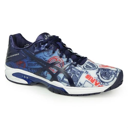 352c0b0cab0c ASICS - Asics Gel Solution Speed 3 Limited Edition Paris Mens Tennis Shoe  Size  7.5 - Walmart.com