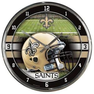 "Wincraft NFL New Orleans Saints Chrome Clock, 12"" x 12"""