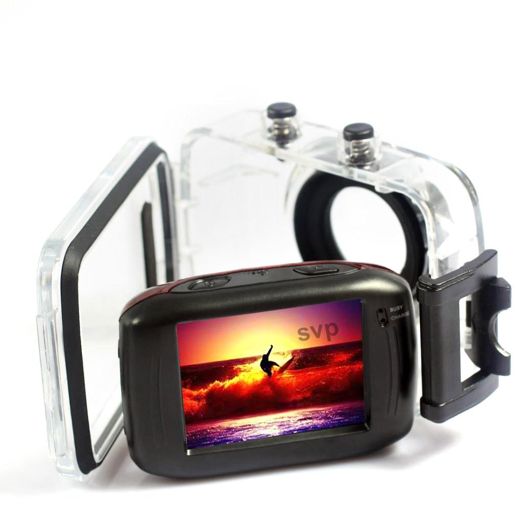 SVP  AC7200 720P HD Mini Action Helmet Camera Waterproof ...