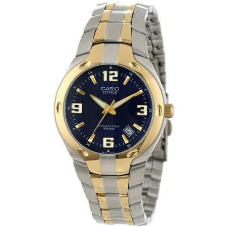 Men's Edifice 10-Year Battery Analog Watch, Two Tone Stainless Steel