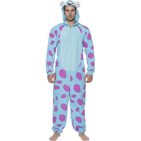 Monster Inc Costumes (Disney Monsters Inc. Men's Sulley Cos Play Tall One Piece Pajama Union Suit, Size:)