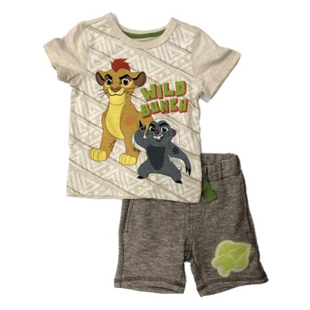 Disney Toddler & Little Lion Guard Outfit Kion & Bunga Shorts & Shirt Set - Lion Outfit