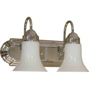 "Volume Lighting V1452 2 Light 14"" Width Bathroom Vanity Light with White Cased G"