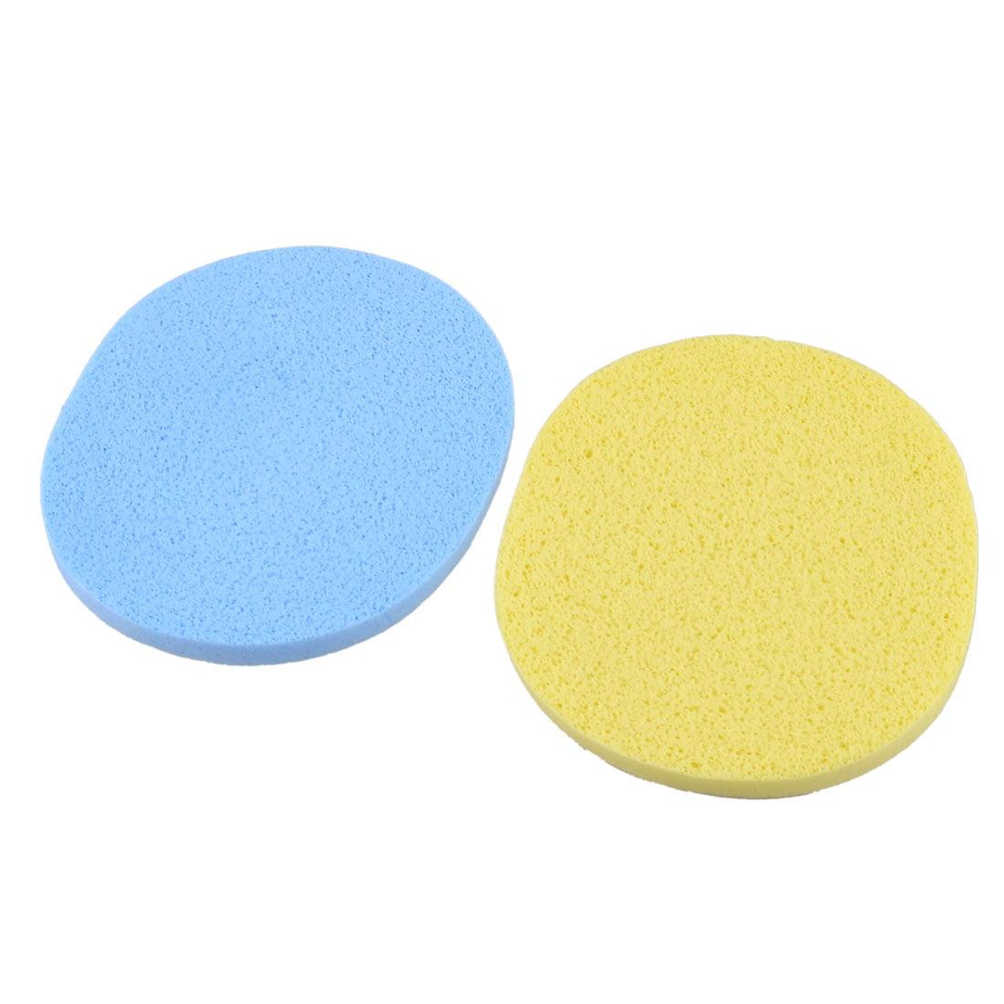 Unique Bargains 2 Pcs Oval Shaped Sponge Cleaning Powder