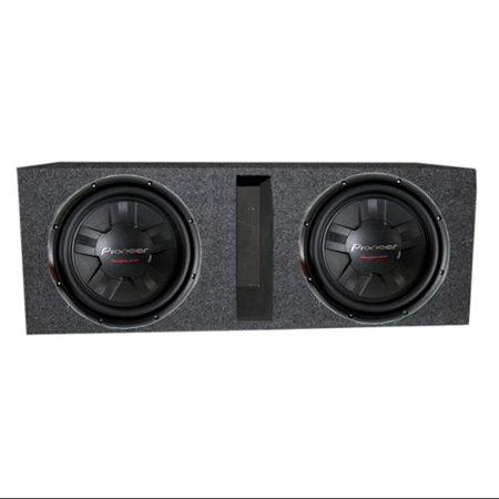 "2) Pioneer TS-W311D4 12"" 2800W Car DVC Subwoofers + Vented Ported Enclosure Box by"