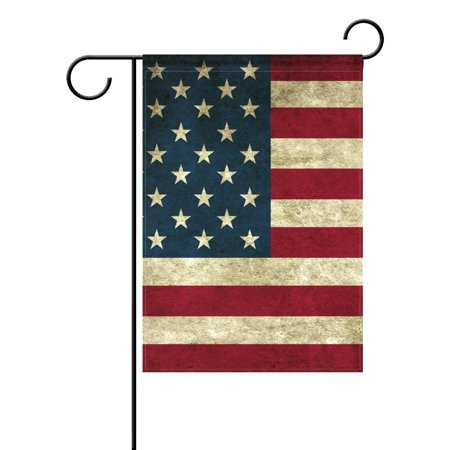 POPCreation Memorial Independence Day 4th of July USA Flag Garden Flag Banner 12x18 Inches Star Stripe American Patriotic Decorative Flag for Wedding Home Outdoor Garden Decor](Banner 4th Of July)