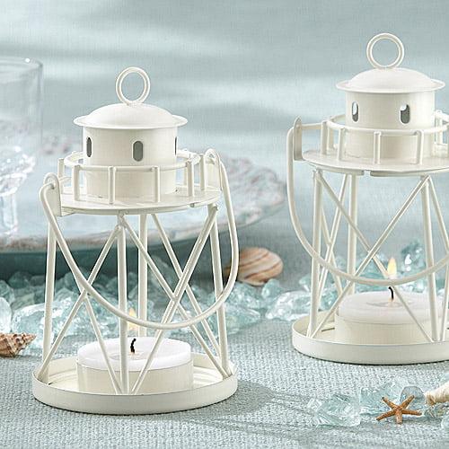 Lighthouse Tealight Holder, Ivory
