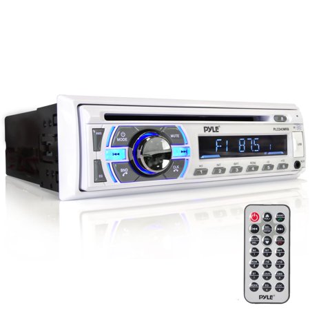 PYLE PLCD43MRB - Marine Bluetooth Stereo Receiver [Digital AM/FM Radio System] Wireless Music Streaming | Hands-Free Call Answering | CD Player | MP3/USB/SD/AUX | Single DIN
