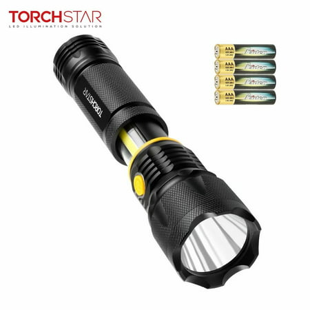 Torchstar Led Flashlight Magnetic Base Work Light Floodlight Spotlight For Father S Day Battery Included
