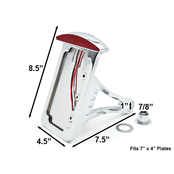 Side Mount Verticle Plate LED Tail Brake Light For Honda Gold Wing Goldwing 1200 1500 1800 - image 1 of 5