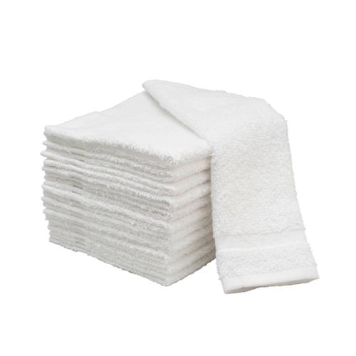"Salon Supply Store 12"" x 12"" 12 Pack Cotton Face Wash Terry Facial Cloths Salon Spa Towels, WHITE, 0412"