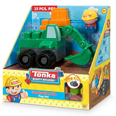 Tonka Mighty Builders Construction Site Play Set - Excavator - 15 pcs