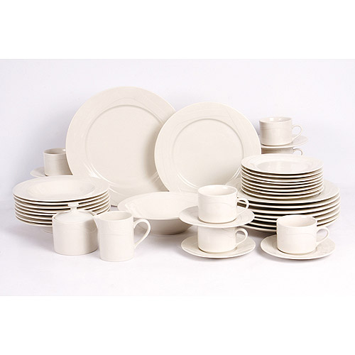 Retroneu White Nova 45-Piece Dinnerware Set  sc 1 st  Walmart & Retroneu White Nova 45-Piece Dinnerware Set - Walmart.com