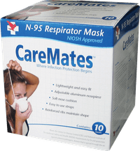 Caremates cone style n95 mask part no. 017106201 (10/box)