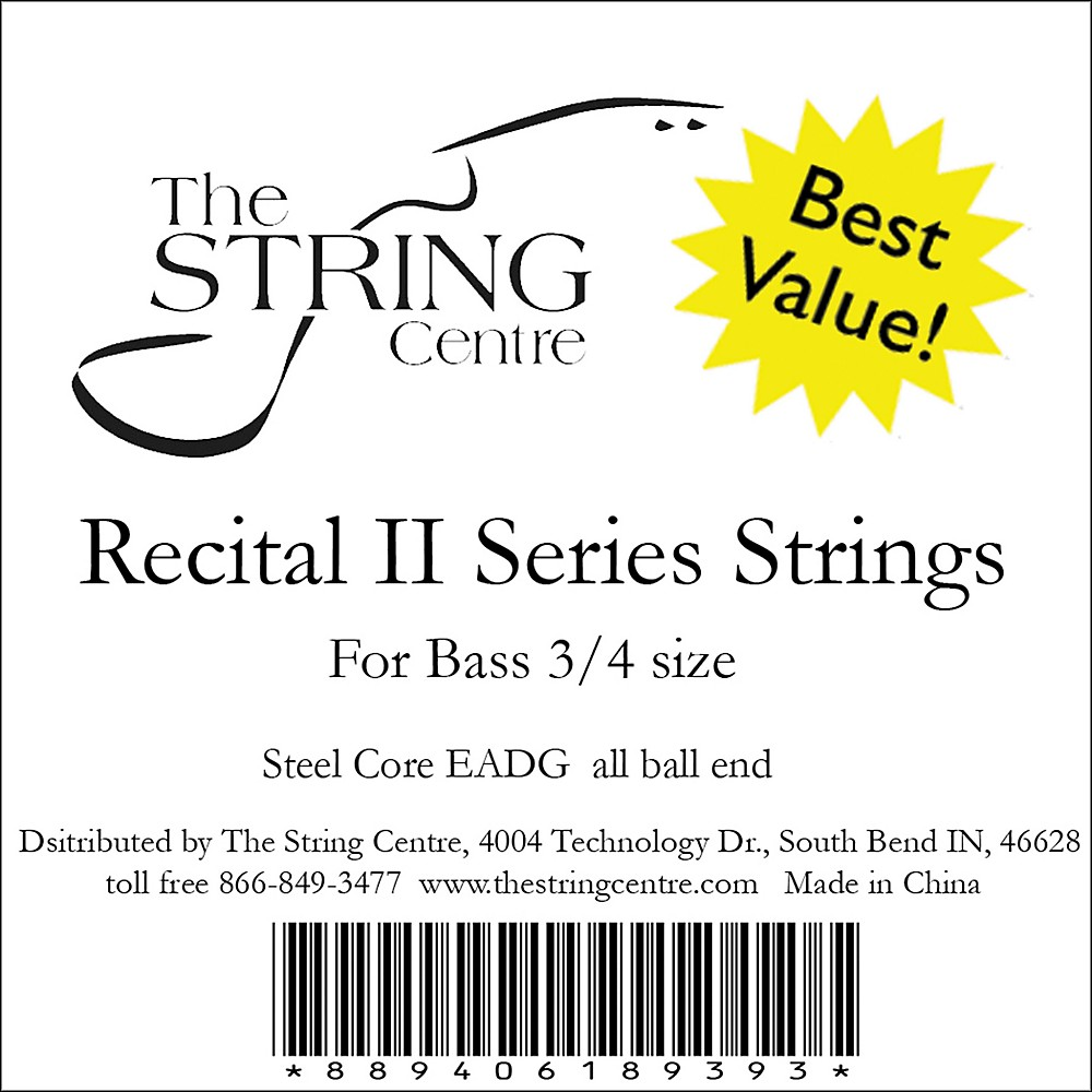 The String Centre Recital II Bass String Set 1/2 Size set