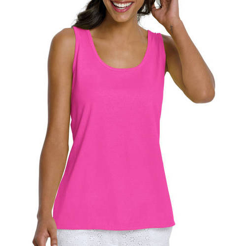 Hanes Scoop Neck Cotton Tank Womens Size XL Large Med Small New