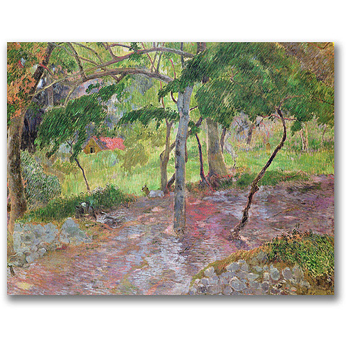 "Trademark Fine Art ""Tropical Landscape, Martinique"" Canvas Wall Art by Paul Gauguin"